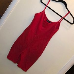 Pretty little thing red bikeshort outfit